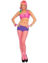 Neonpinke Netzstrumpfhose für Damen
