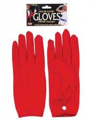Handschuhe kurz Kostümzubehör für Karneval und Halloween rot