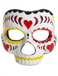 Skelett-Maske Tag der Toten Kostüm-Accessoire bunt