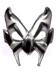 Silberne Teufelsmaske venzianischer Stil