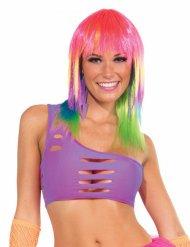Disco Bandeau-Top 80er 90er-Jahre neon-lila