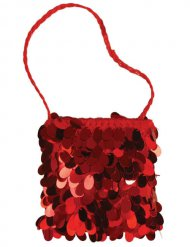 20er-Jahre Charleston Pailletten-Handtasche rot
