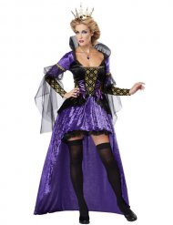 Prachtvolle Königin märchenhaftes Damenkostüm lila-schwarz