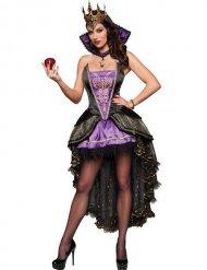 Dunkle Königin Damenkostüm Märchen schwarz-lila