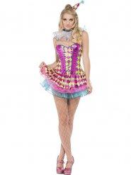 Harlekin-Zirkuskostüm für Damen bunt