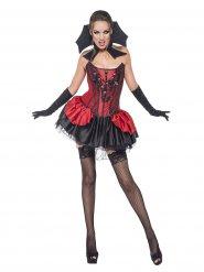 Heisse Vampirin-Damenkostüm Halloween rot-schwarz