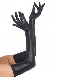 Lange Kunstlederhandschuhe für Erwachsene