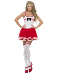 Sportler-Kostüm für Damen rot-weiss