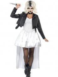 Chuckys-Braut Halloween Damenkostüm Killer schwarz-weiss