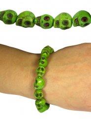Totenschädel-Armband Skelett grün