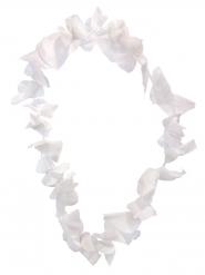 Weiße Hawaiikette mit Blüten