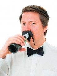 Flaschenzubehör schwarzer Schnurrbart 10,5 x 8cm