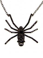 Gothic Spinnen-Halskette fuer Erwachsene schwarz