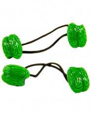 Halloween-Haarschmuck Gehirn-Haargummis 2 Stück grün