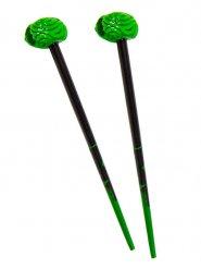 Haarstäbchen Kreepsville Gehirn Accessoire schwarz-grün