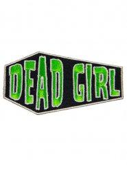 Gothic Aufnäher Sarg Dead Girl grün-schwarz