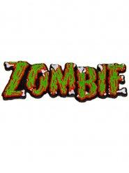 Zombie-Aufnäher Kreepsville Halloween-Zubehör grün-rot