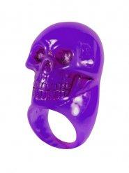 Kreepsville Ring violett Totenkopf