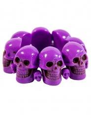 Elastisches Totenschädel-Armband für Erwachsene Halloween-Accessoire violett