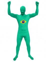Brasilianischer-Overall Fanartikel-Kostüm Fußball-Suit grün-gelb-blau