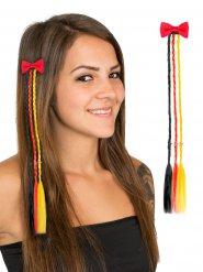 Haarspange mit Zöpfen Deutschland-Farben Fanzubehör schwarz-rot-gold