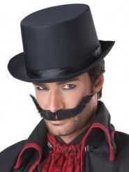 Banditen Schnurrbart für Herren schwarz