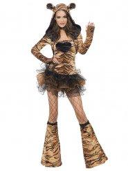 Sexy Tigerin-Kostüm mit Tutu Damen