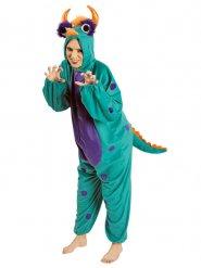 Lustiges Monster-Kostüm für Erwachsene türkis-lila