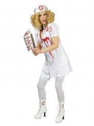 Halloween-Kostüm blutverschmierte Krankenschwester für Damen