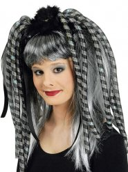 Haarextensions graue blinkende Strähnen