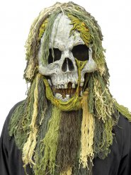 Moor-Monster Halloween-Maske grau-grün