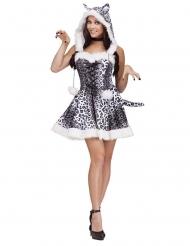Sexy Schneeleoparden Kostüm Damen