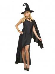Verführerische Hexe Damenkostüm für Halloween schwarz