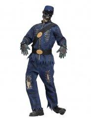 Zombie-Soldat Halloween-Verkleidung für Herren blau-grau