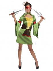TMNT Raphael™-Turtles Damenkostüm Lizenz grün-gelb-schwarz