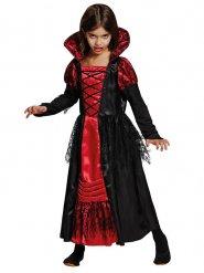 Vampirkostüm schwarz-rot für Mädchen