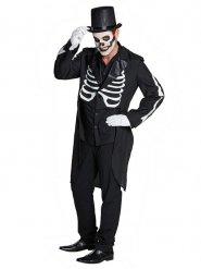 Frack für Herren Skelett Halloween schwarz-weiss