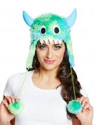 Fellhut niedliche Monster in grün und blau