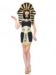 Ägyptisches-Pharaonen Damenkostüm Antike schwarz-gold