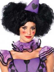 Voluminöse Clown-Perücke Locken Kostümzubehör schwarz