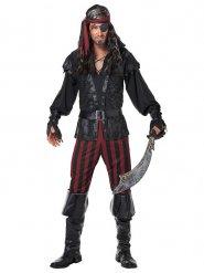 Dunkler Seeräuber Piraten-Kostüm für Herren schwarz-rot