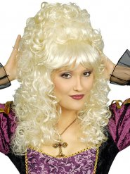 Lockige blonde Barock-Perücke Damen