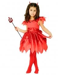 Kleine Teufelin-Mädchenkostüm rot