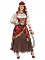 Hochwertiges Piratenkostüm Damen