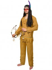 Indianer Kostüm mit Fransen Herren