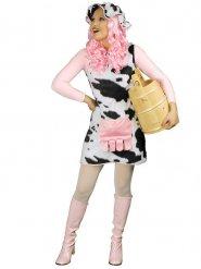 Kuh Kostüm für Damen schwarz-weiss