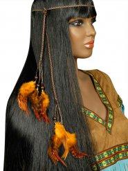 Indianer Stirnband mit orangen Federn Erwachsene