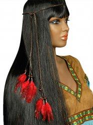 Indianer Stirnband mit roten Federn Erwachsene