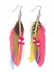 Indianer Feder-Ohrringe für Erwachsene bunt