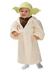 Star Wars™ Yoda-Kinderkostüm Lizenzartikel beige-braun-grün